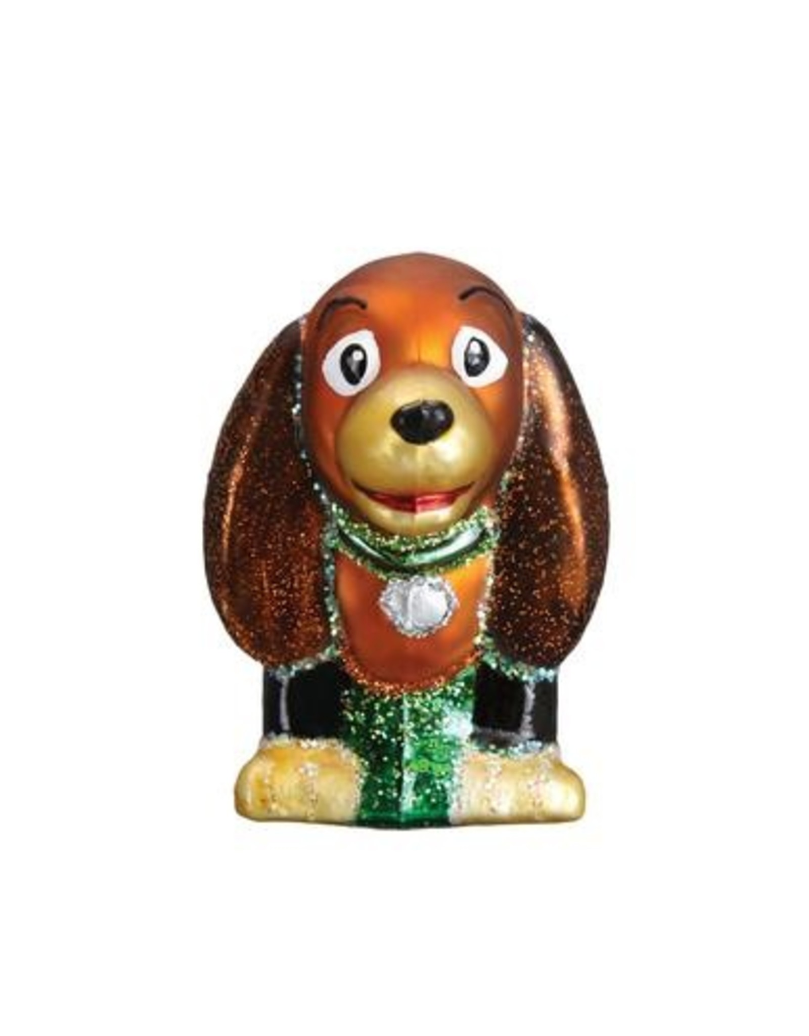 Old World Christmas Toy Coil Dog Ornament