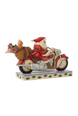 Jim Shore Cruisin Towards Christmas Santa on Motorcycle