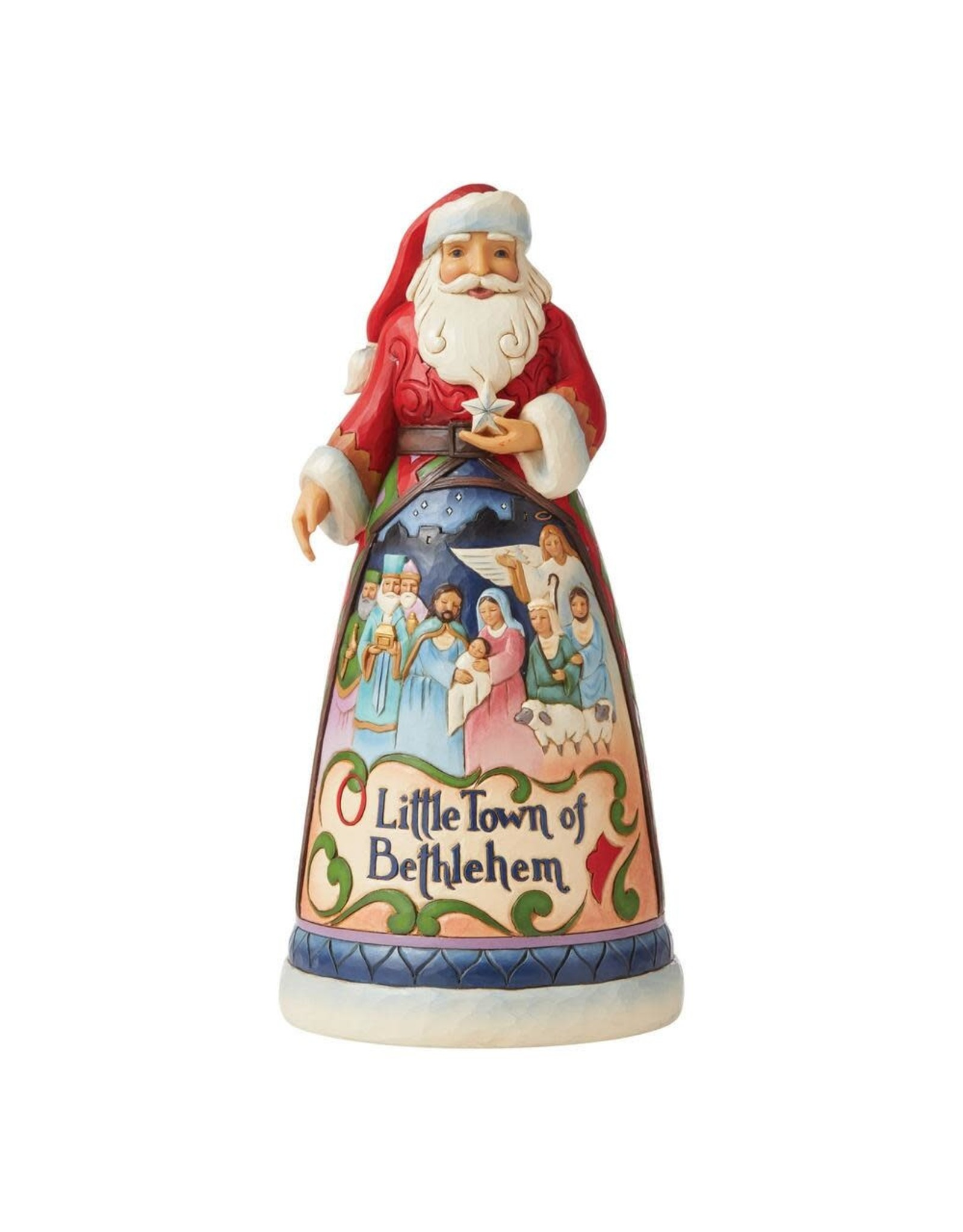 Jim Shore O Little Town of Bethlehem Santa