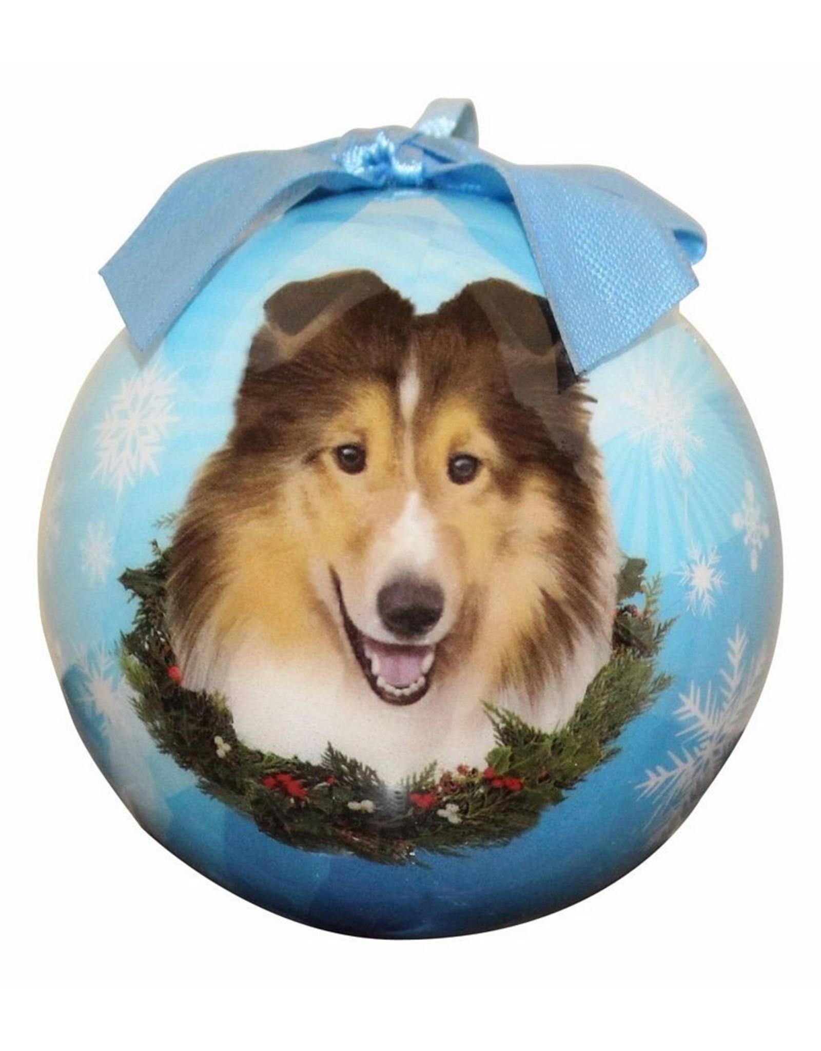 E&S Pets Sheltie Ball Ornament