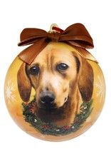 E&S Pets Red Dachshund Ball Ornament