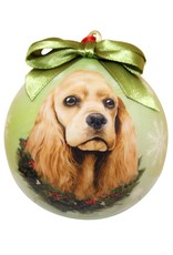 E&S Pets Cocker Spaniel Ball Ornament