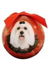 E&S Pets Maltese Ball Ornament