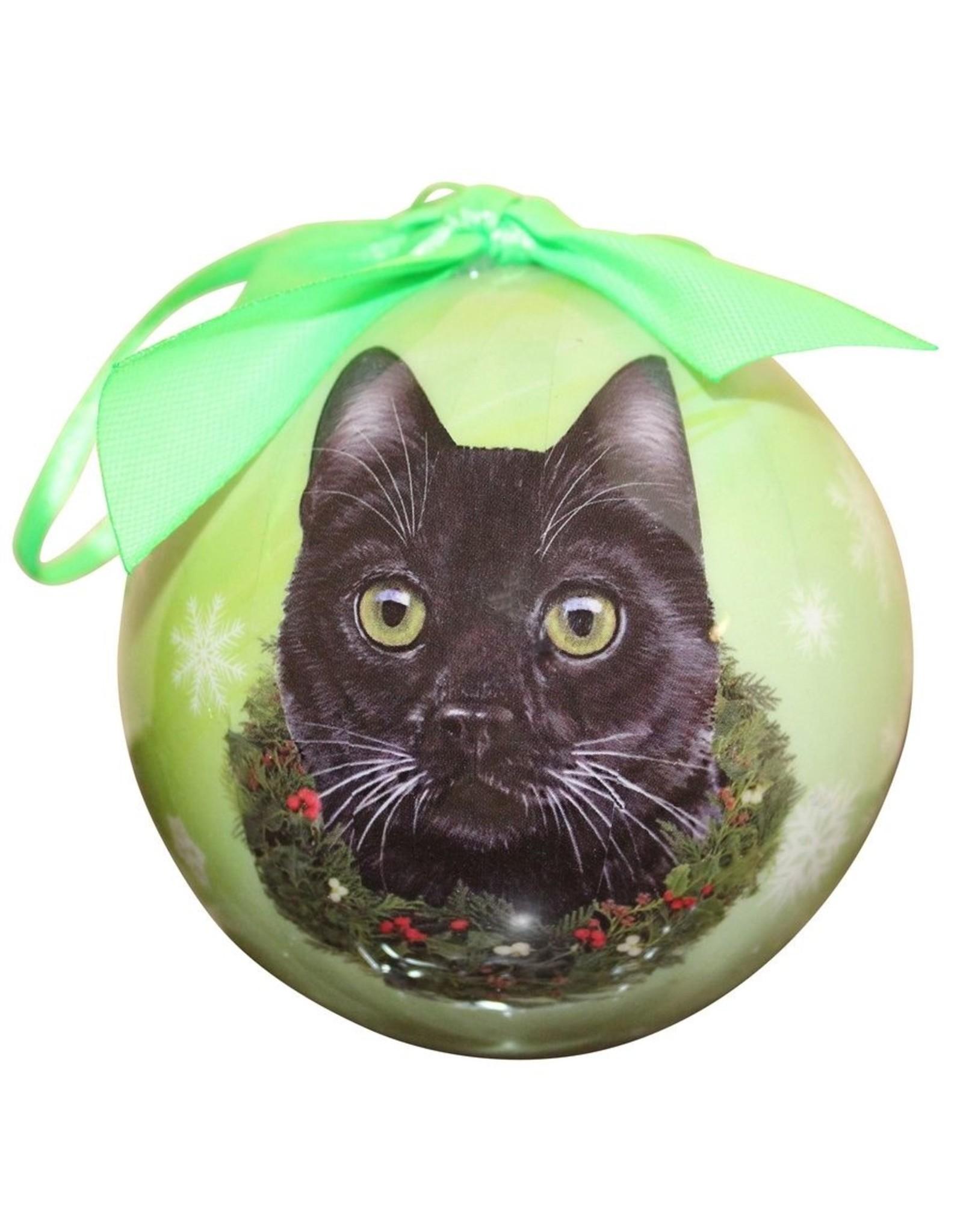 E&S Pets Black Cat Ball Ornament