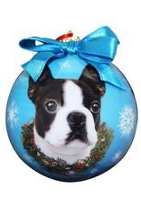 E&S Pets Boston Terrier Ball Ornament