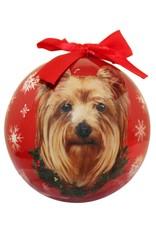 E&S Pets Yorkie Ball Ornament