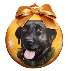 E&S Pets Black Labrador Ball Ornament