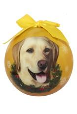 E&S Pets Yellow Labrador Ball Ornament