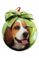 E&S Pets Beagle Ball Ornament