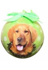 E&S Pets Golden Retriever Ball Ornament