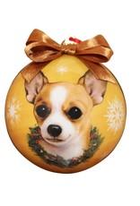 E&S Pets Tan Chihuahua Ball Ornament