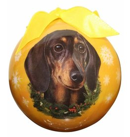 E&S Pets Black Dachshund Ball Ornament