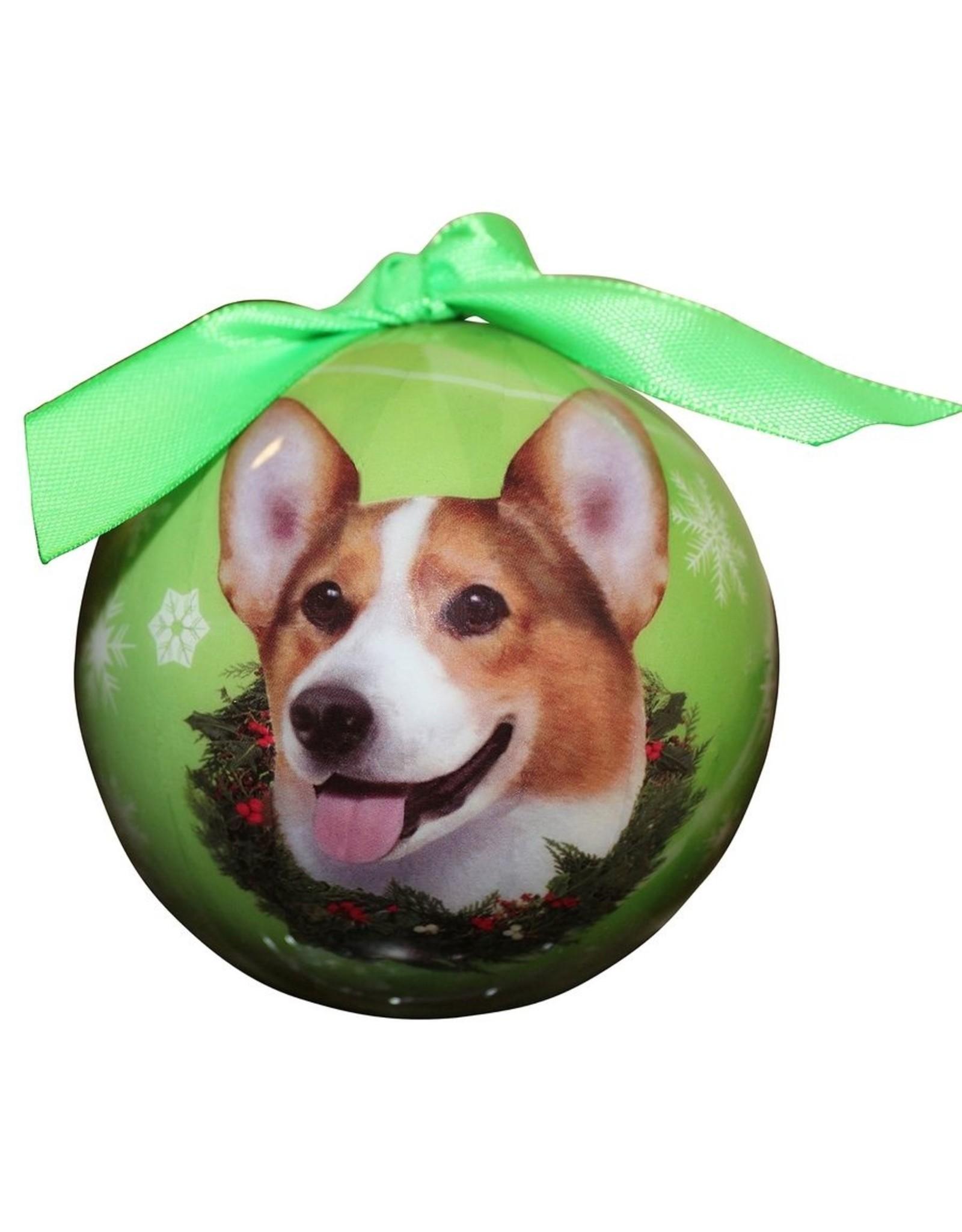 E&S Pets Welsh Corgi Ball Ornament