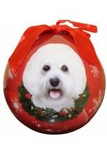 E&S Pets Bichon Frise Ball Ornament