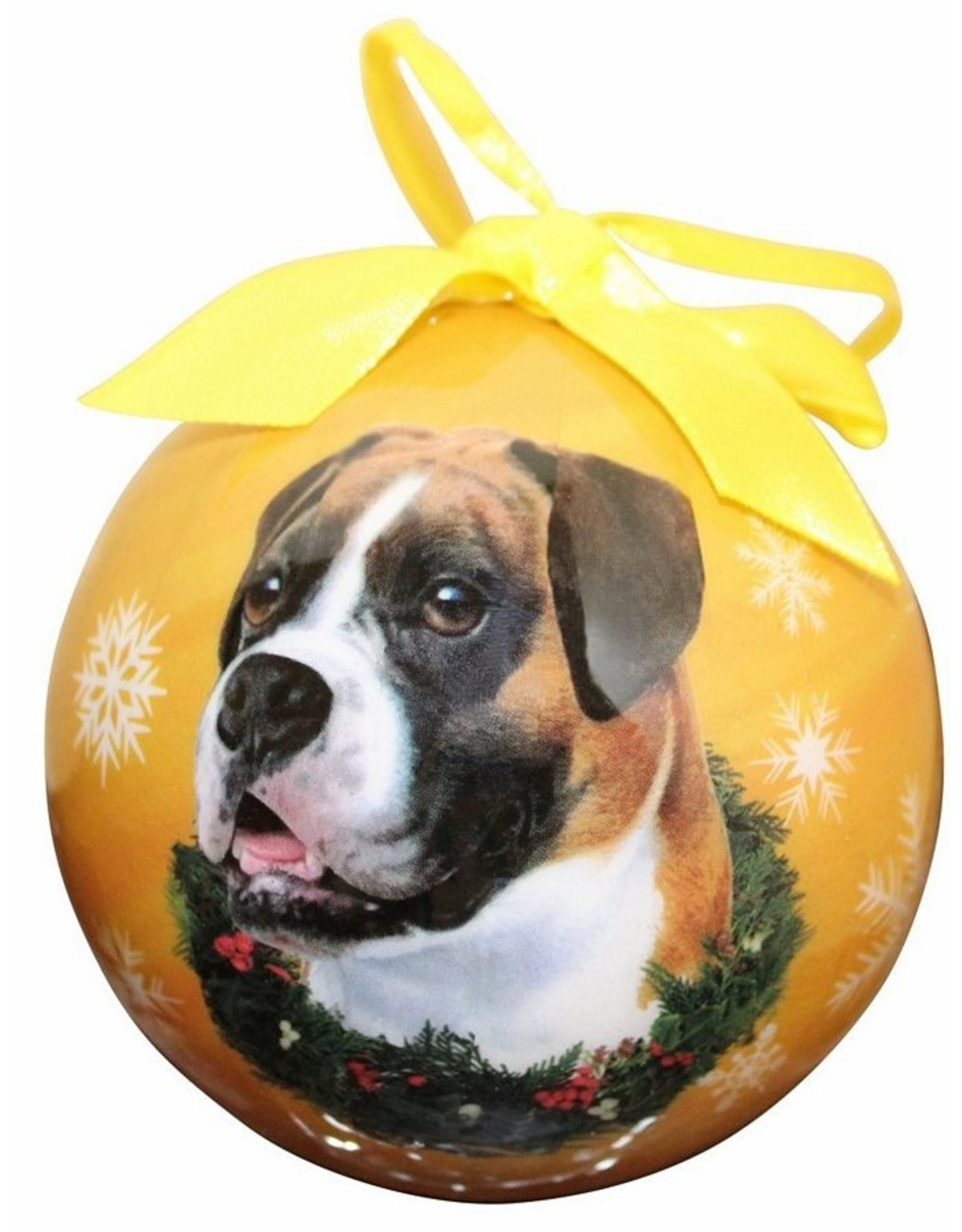 E&S Pets Boxer Ball Ornament