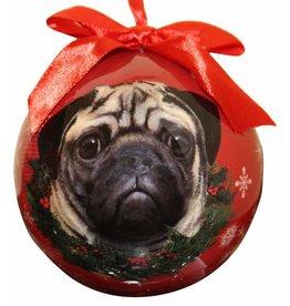 E&S Pets Pug Ball Ornament