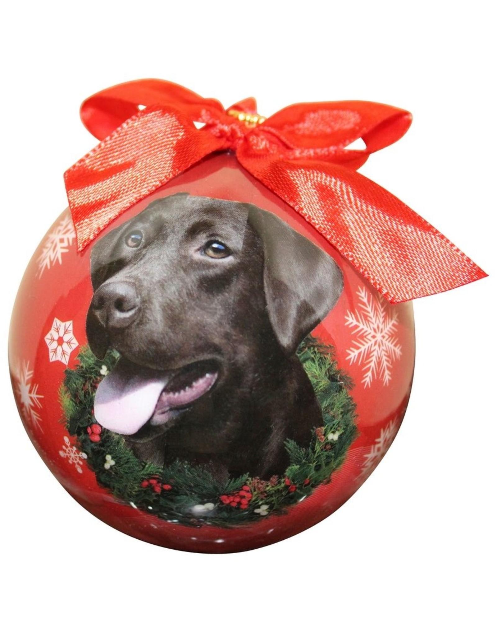 E&S Pets Chocolate Labrador Ball Ornament