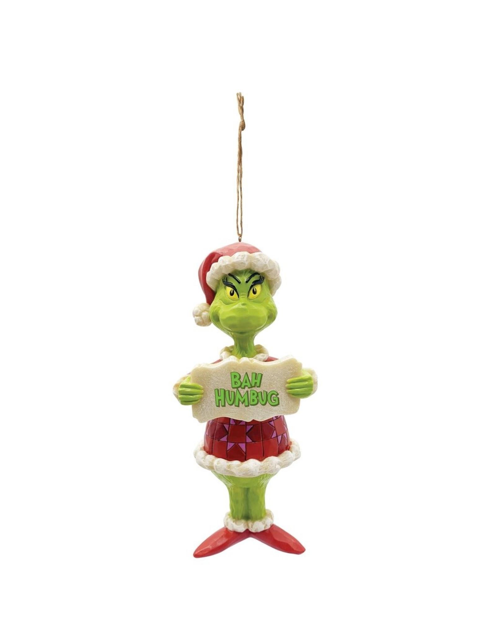 Jim Shore Grinch Bah Humbug Ornament