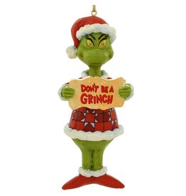Jim Shore Don't Be A Grinch Ornament