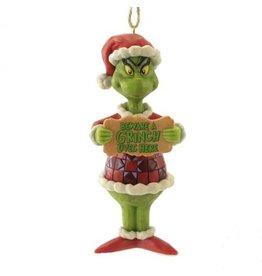 Jim Shore Beware The Grinch Ornament