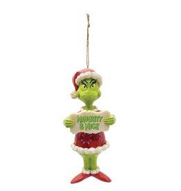 Jim Shore Naughty & Nice Grinch Ornament
