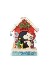 Jim Shore Merry and Bright Doghouse