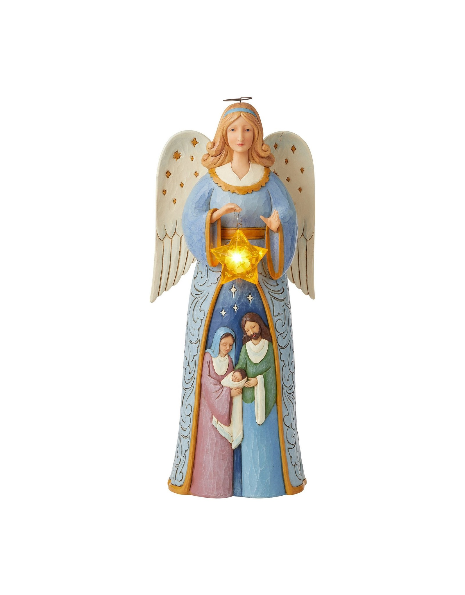 Jim Shore Angel with Nativity Statue