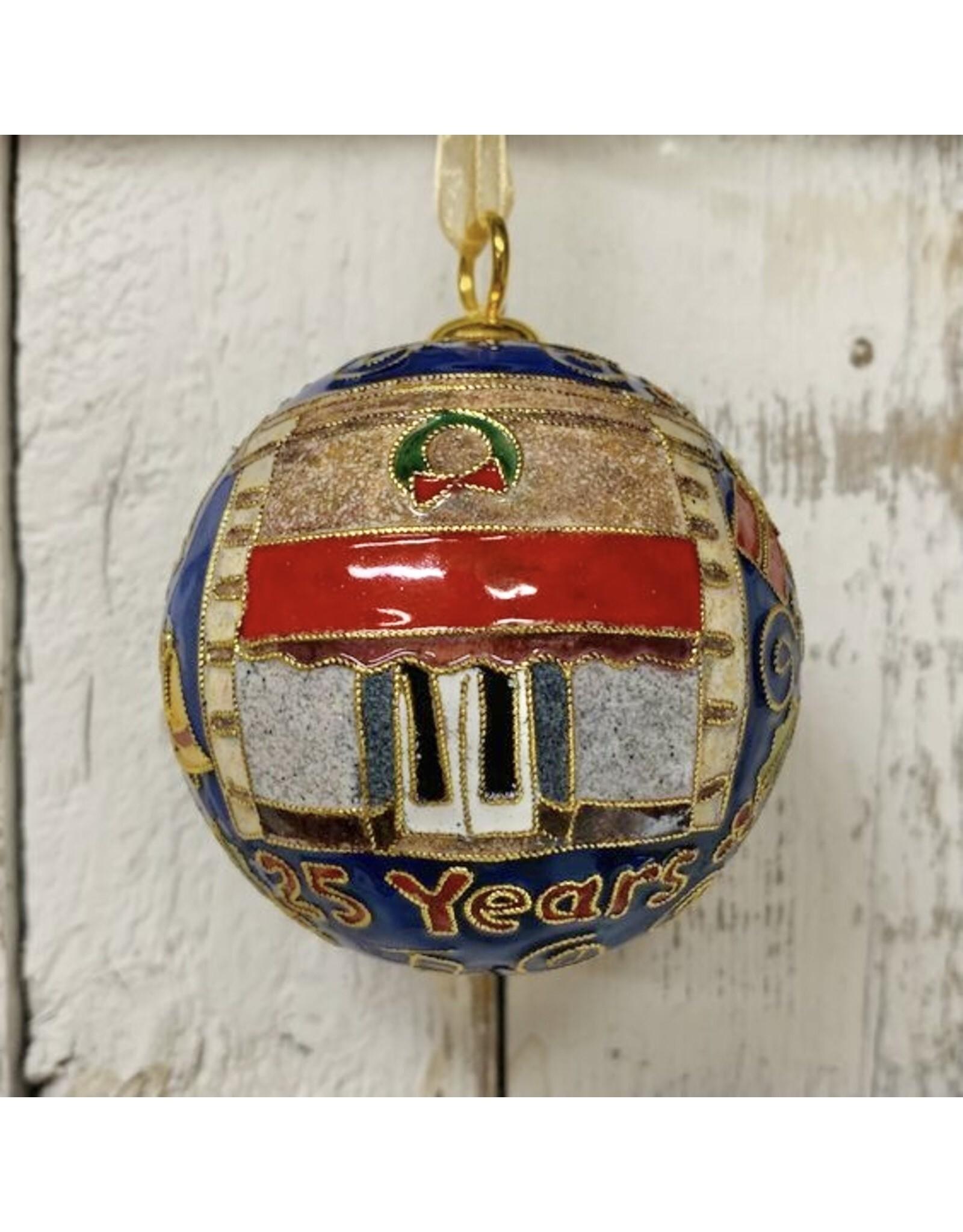 Kitty Keller TCS 25th Anniversary Boerne Cloisonné Ornament