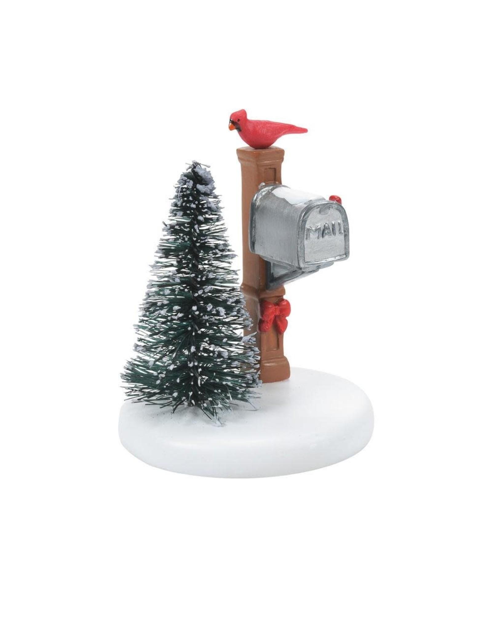 Enesco Cardinal Christmas Mailbox