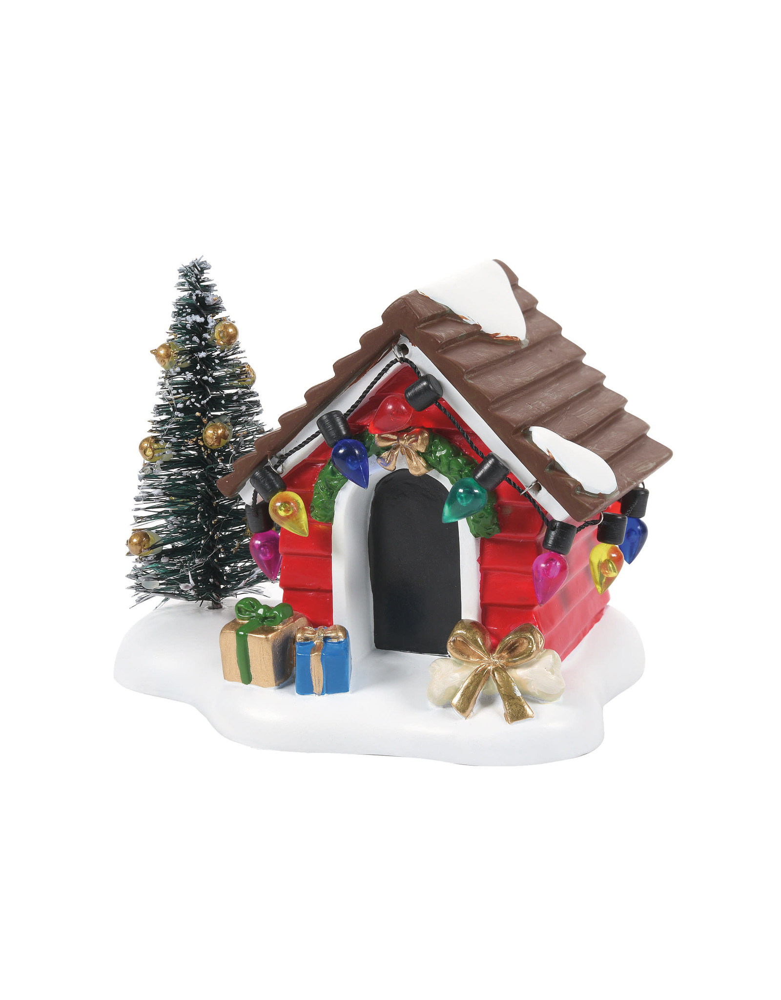 Enesco Fido's Christmas Getaway