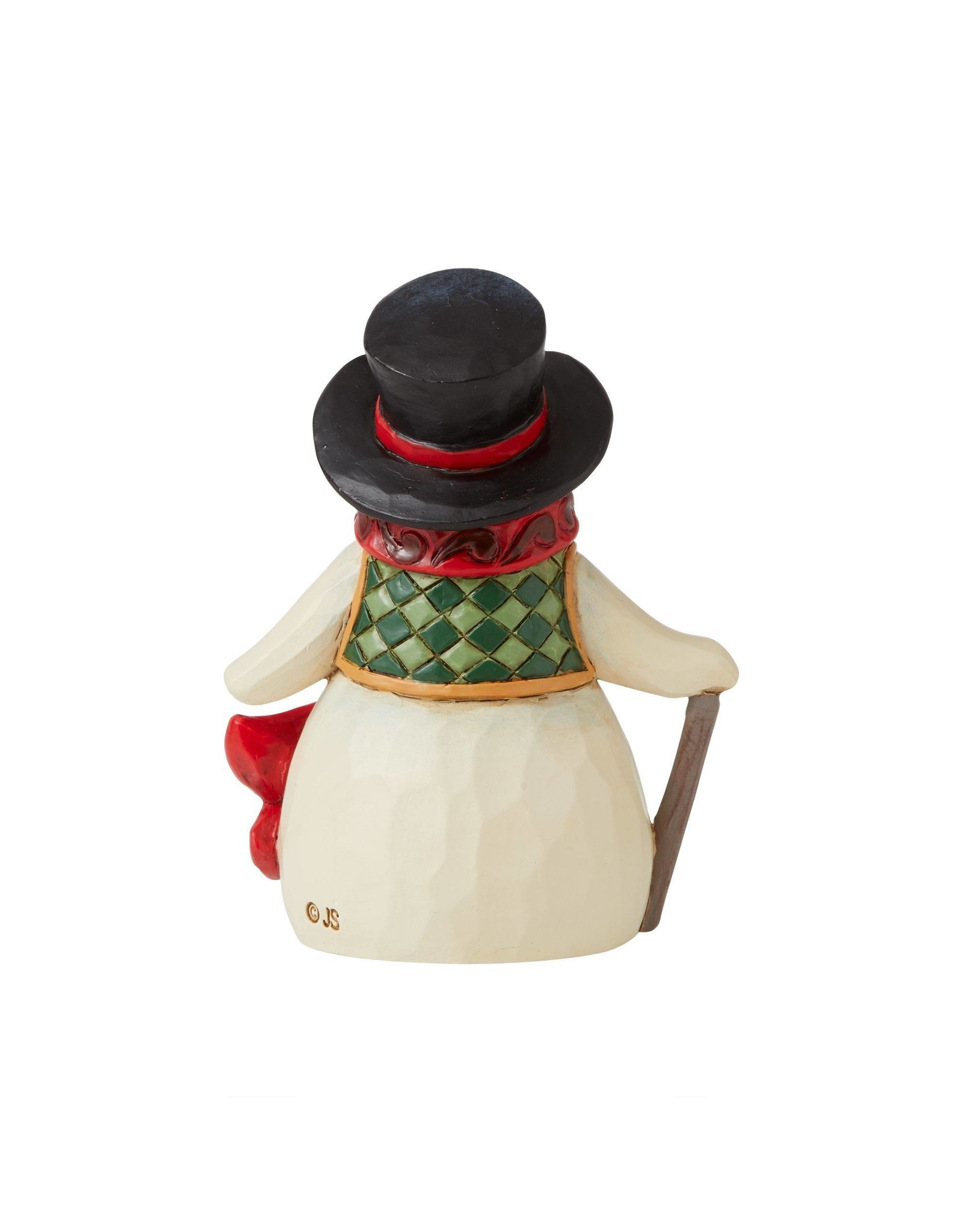 Jim Shore Mini Snowman with Long Red Scarf