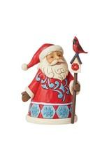 Jim Shore Mini Santa with Cardinal & Birdhouse