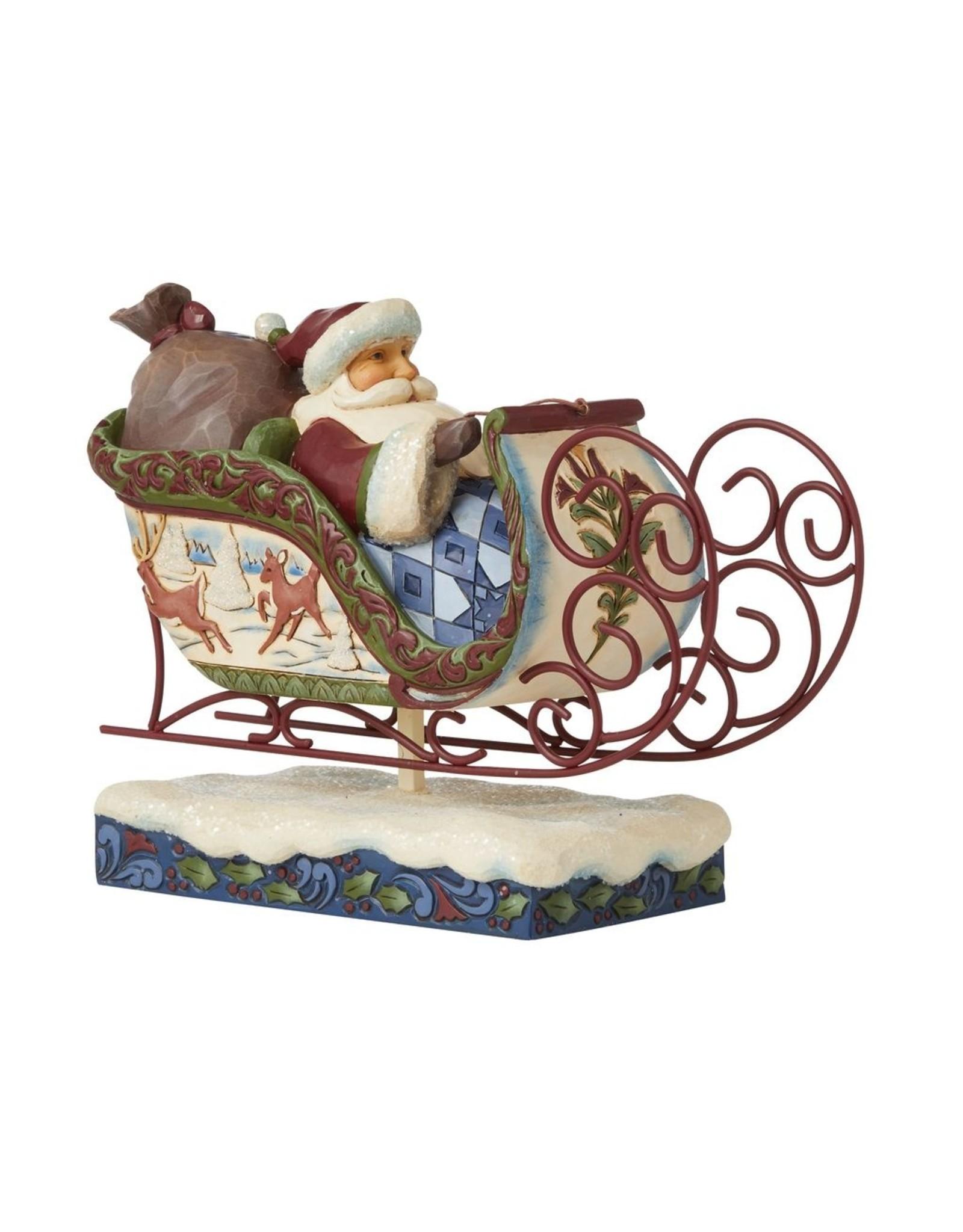 Jim Shore Victorian Santa in Sleigh