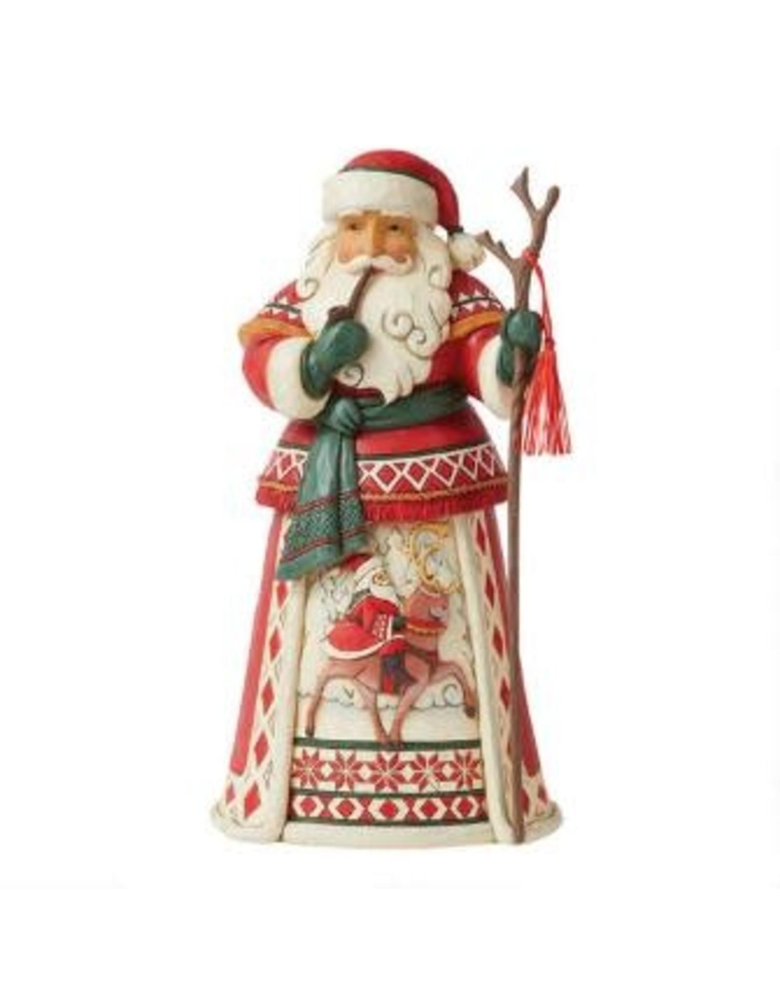 Jim Shore Yuletide Ride Lapland Santa