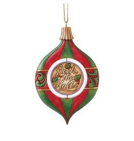 Jim Shore Deck the Halls Rotating Santa Ornament