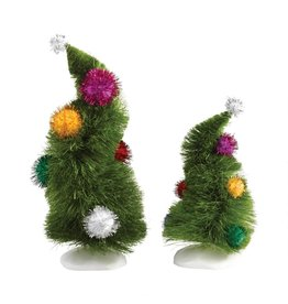 Department 56 Grinch Wonky Trees (Set of 2)