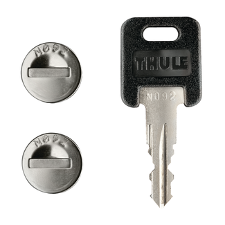 Thule One-Key System 2 Pack Silver