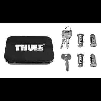 Thule One-Key System 4 Pack Silver