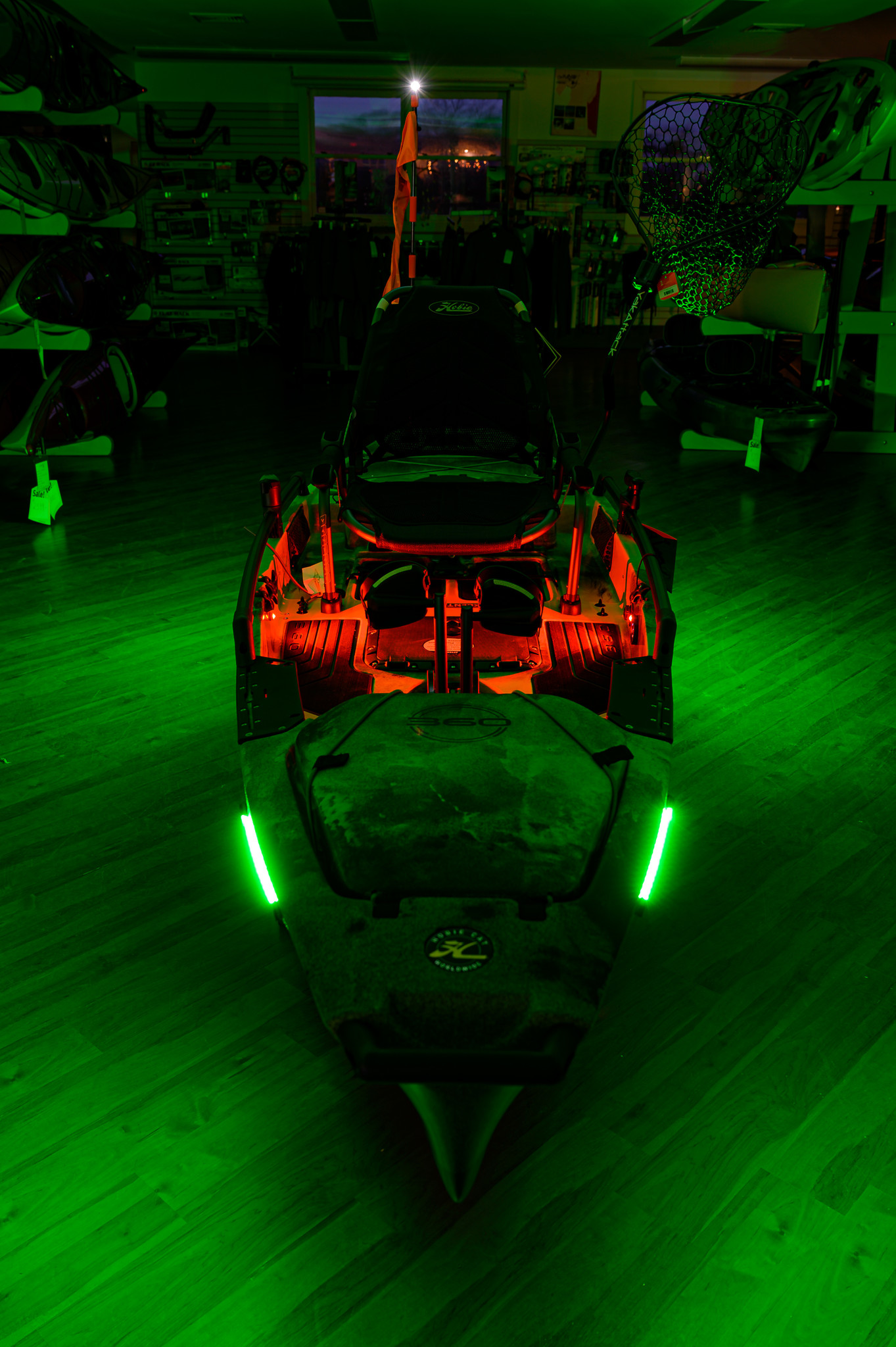 Hobie Pro Angler rigged with YakPower lights