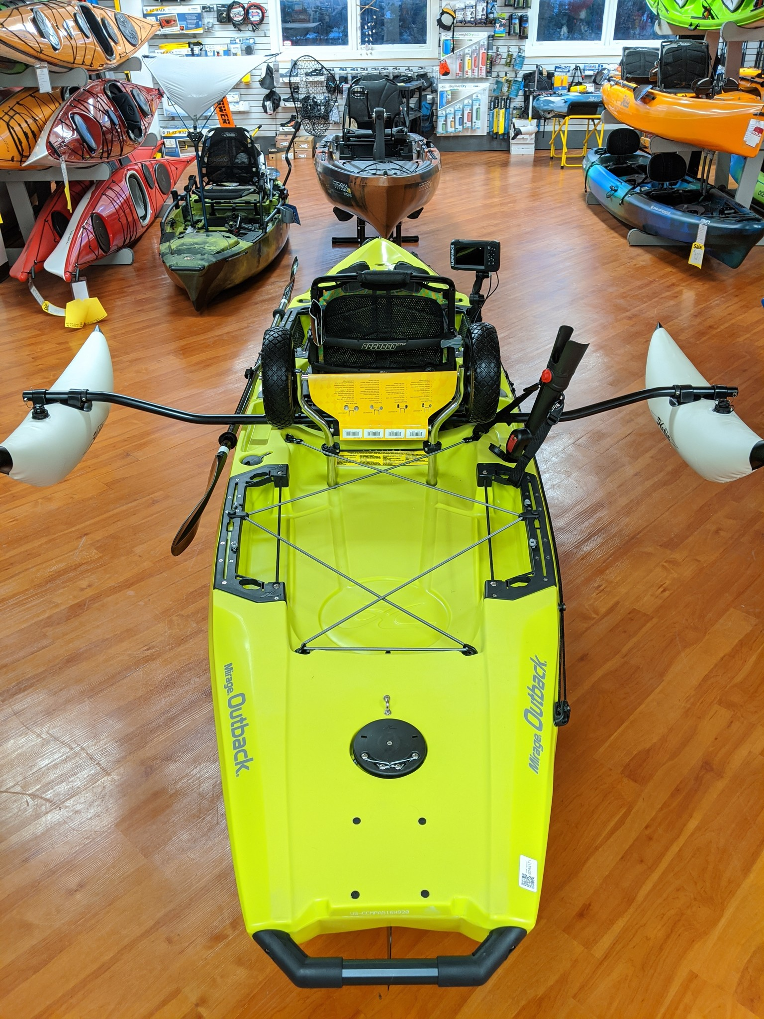 Hobie Outback with Sidekick Amas and fishfinder