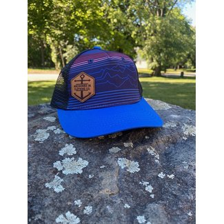 Anchored In Clothing Co. Youth Trucker - Mtn Lines