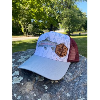 Anchored In Clothing Co. Rainbow Trout Trucker Hat