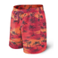 Saxx SAXX CANNONBALL 2N1 LONG BOARDSHORT RED PALM SUNSET