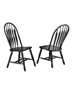 """Sunset Trading 41"""" Comfort Back Chair Set of 2"""