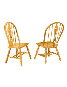 """Sunset Trading 41"""" Keyhole Chair Set of 2"""