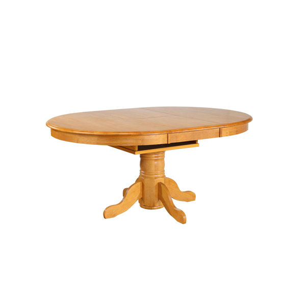 Sunset Trading Oval Butterfly Leaf Pedestal Table 4266