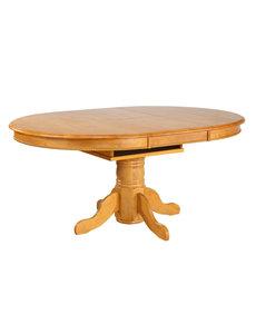 Sunset Trading Butterfly Top Pedestal Dining Table l Light Oak