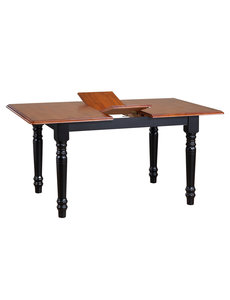 Sunset Trading Butterfly Dining Table l Antique Black with Cherry Finish Top