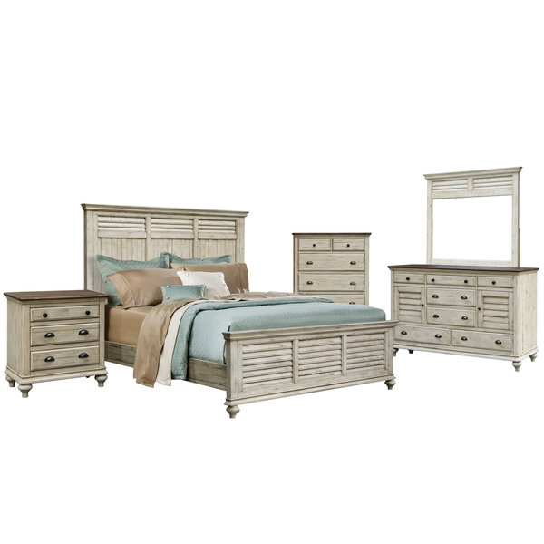 Sunset Trading Brockton Queen Bed - Fall Wheat