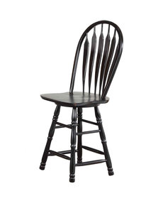 "Sunset Trading 24"" Swivel Barstool l Antique Black"